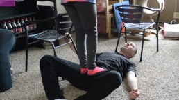 TSM - Rainy busts my balls and jumps on me with her socked feet