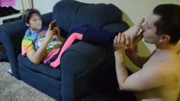 TSM - Licking and worshiping the sweaty feet of Rainy