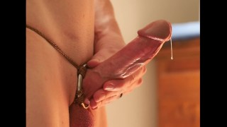 Shaft Ring Harness 3 - Commentary of a shaft ring and false start orgasm