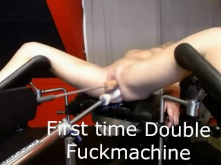 First time double penetration fuckmachine ever