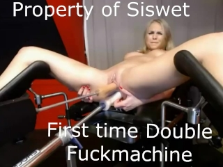 Preview 3 of First time double penetration fuckmachine ever