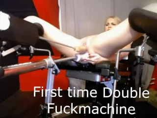 Preview 5 of First time double penetration fuckmachine ever