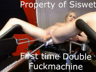 Preview 6 of First time double penetration fuckmachine ever