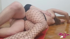 Perfect Teen Ass in fishnet
