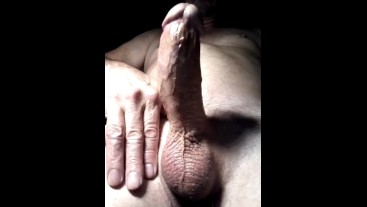 Stroking my Cock with Huge Slow Motion Cumshot