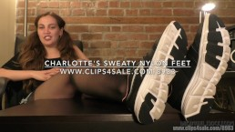 Charlotte's Sweaty Nylon Feet - (Dreamgirls in Socks)