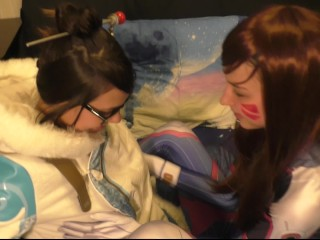 Preview 1 of D. va and Mei Lesbian Оverwatch Сosplay