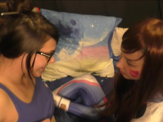 Preview 2 of D. va and Mei Lesbian Оverwatch Сosplay