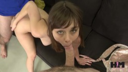 HUSSIE AUDITIONS: TINY 18 YO BRUNETTE SHAE CELESTINE IN HER 1ST SCENE EVER