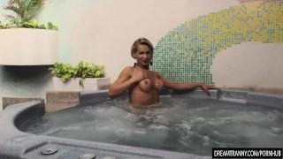 Horny Tranny Pamela Lenvisk Masturbates Her Big Cock in a Whirl Pool Tub Amateurs alex
