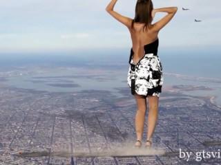 MEGA Anna Tatu in New York SFX, VFX, Giantess Video