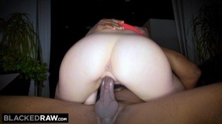 Preview 5 of BLACKEDRAW Big titty white girl gets double teamed by BBCs