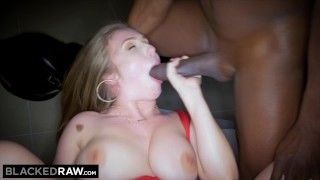 Teamed white girl gets double bbcs by big blackedraw titty prone bush