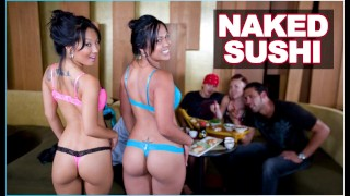 BANGBROS Naked Sushi With Asian Pornstar Asa Akira and Tasha Lynn