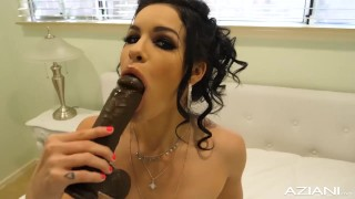 Freaky Little Eden Sin Dildos with huge Black Cock
