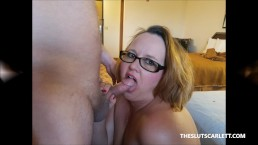 The Slut Scarlett gets fucked by two of the Scarlett Crew.