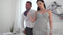 Aletta Ocean seducing her husband lawyer - alettAOceanLive