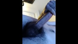 Sexy guy with massive dick jacking off