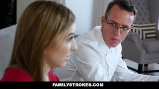 FamilyStrokes - Stepsis Fucks Her Stepbro After Therapy Jelena sucking