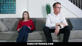 FamilyStrokes - Stepsis Fucks Her Stepbro After Therapy  step sis step bro big cock step siblings small tits young brunette familystrokes shaved gracie may green teenager step brother voyuer cum shot step sister