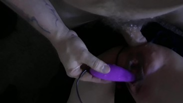 skinny wifes fat cunt wont stop squirting while getting ass fucked