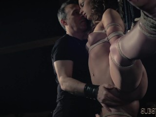 Teen Slave Bdsm Whipped With Whip In Fetish Porn Video Swallows Cum
