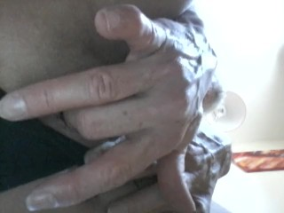Fingering my wet Pussy and giant clit