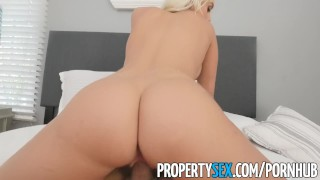 PropertySex - Good looking agent fucks home owner for listing Party bang