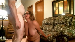 The Slut Scarlett and Repairman part 2:The Repairman gets some ass and ATM