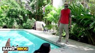 Preview 3 of BANGBROS - Gardener Bruno Dickemz Fucks Latina Pornstar Valerie Kay