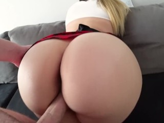 Blonde takes in ass
