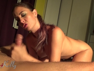 Handjob denial multiple cumshot