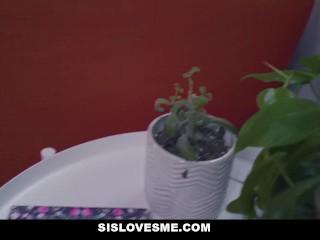 SisLovesMe - Hot Sister Evelin Stone Teases Her Stepbro For Cock