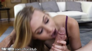 Young Blonde Girl Alexa Grace Gets Mouth Fucked - POV porno