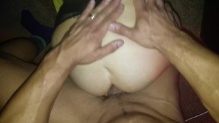 TOTAL STRANGERS cum inside her asshole! What a filthy slut hotwife Stepson ass
