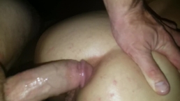 TOTAL STRANGERS cum inside her asshole! What a filthy slut hotwife