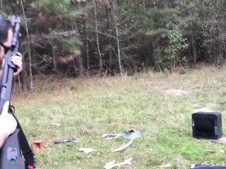 Shooting a Printer with AR15 and Blowing it Up |Office Space Tribute Parody