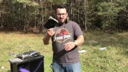 Shooting Lithium Ion Batteries with Tracer Incendiary Bullets! from a GUN!!