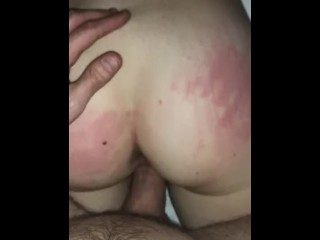 Young college girl fucked doggy POV