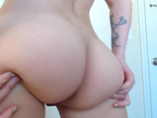 Naked Twerk/Ass Shaking In Your Face - Nude Booty Clapping w/ Bubble Butt
