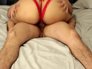 I fuck my 18 year old girlfriend's big ass in her sexy lingerie