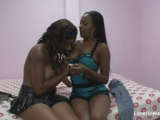 Black girls are lesbians and being very kinky