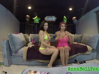 ANNA BELL PEAKS WEBCAM SHOW WITH BRUNETTE PAWG FRIEND main image