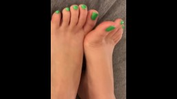 Kiara Skye's St. Patrick's Day Pedicure Foot Fetish Tease