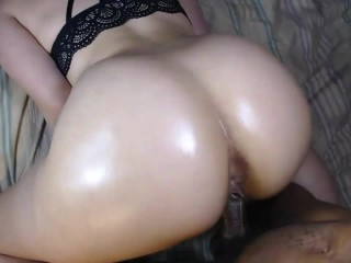Sexy ass redbone throw's it back on hard cock & make's him cum hard!
