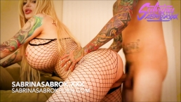 Sabrina Sabrok fishnet hard doggystyle video completo