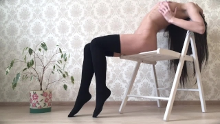 Skinny Teen Playing with a Big Dildo