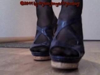 Präsentation meiner Blauen High Heels