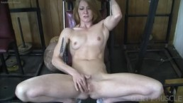 Female Bodybuilder Redhead Makes Herself Cum