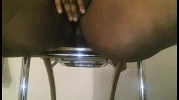 Squirting hard in hotel room chair!!!!!